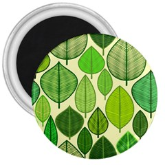 Leaves pattern design 3  Magnets