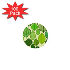 Leaves pattern design 1  Mini Buttons (100 pack)