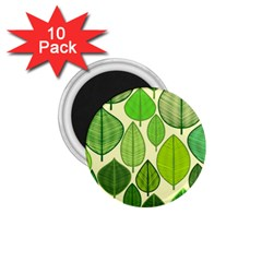 Leaves pattern design 1.75  Magnets (10 pack)