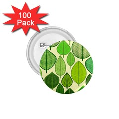 Leaves pattern design 1.75  Buttons (100 pack)