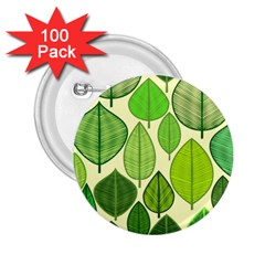 Leaves pattern design 2.25  Buttons (100 pack)