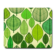 Leaves pattern design Large Mousepads