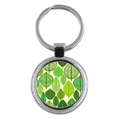 Leaves pattern design Key Chains (Round)