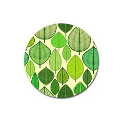 Leaves pattern design Magnet 3  (Round)