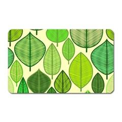Leaves pattern design Magnet (Rectangular)