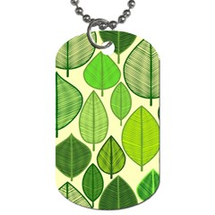 Leaves pattern design Dog Tag (One Side)