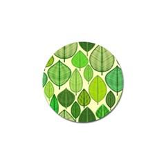 Leaves pattern design Golf Ball Marker (4 pack)