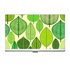 Leaves pattern design Business Card Holders