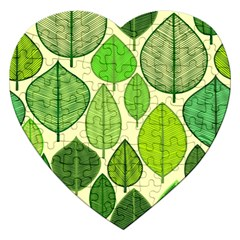 Leaves pattern design Jigsaw Puzzle (Heart)