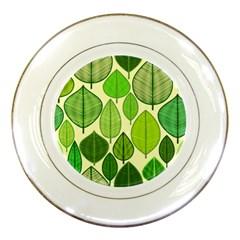 Leaves pattern design Porcelain Plates