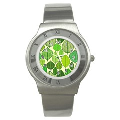 Leaves pattern design Stainless Steel Watch