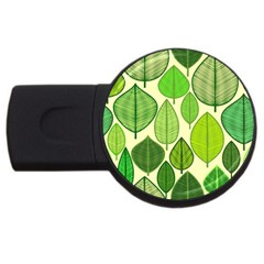 Leaves pattern design USB Flash Drive Round (4 GB)