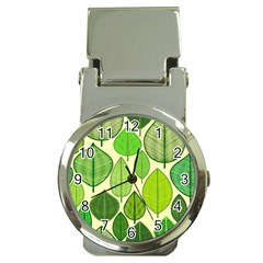 Leaves pattern design Money Clip Watches