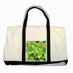 Leaves pattern design Two Tone Tote Bag