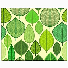 Leaves pattern design Canvas 8  x 10