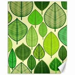 Leaves pattern design Canvas 16  x 20