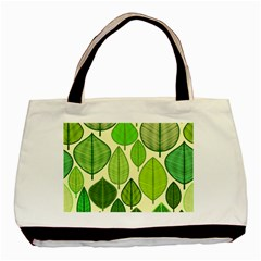 Leaves pattern design Basic Tote Bag (Two Sides)