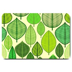 Leaves pattern design Large Doormat