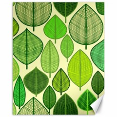Leaves pattern design Canvas 11  x 14