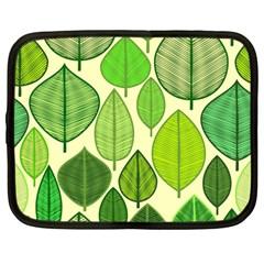 Leaves pattern design Netbook Case (Large)