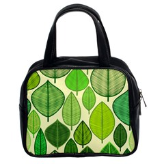 Leaves pattern design Classic Handbags (2 Sides)