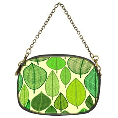 Leaves pattern design Chain Purses (One Side)