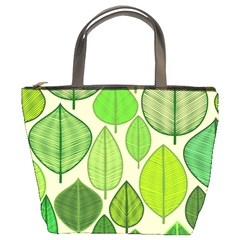 Leaves pattern design Bucket Bags