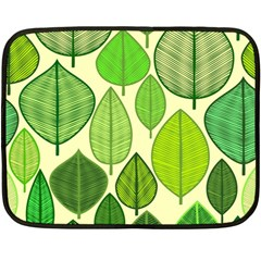 Leaves pattern design Fleece Blanket (Mini)