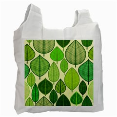 Leaves pattern design Recycle Bag (One Side)