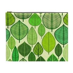 Leaves pattern design Cosmetic Bag (XL)