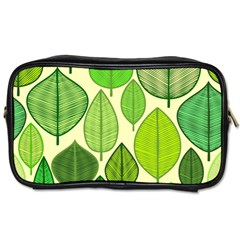 Leaves pattern design Toiletries Bags 2-Side