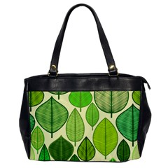 Leaves pattern design Office Handbags