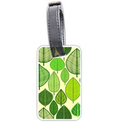 Leaves pattern design Luggage Tags (One Side)