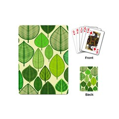 Leaves pattern design Playing Cards (Mini)