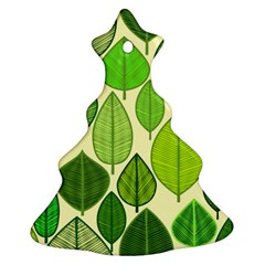 Leaves pattern design Christmas Tree Ornament (Two Sides)