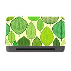 Leaves pattern design Memory Card Reader with CF