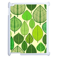 Leaves pattern design Apple iPad 2 Case (White)