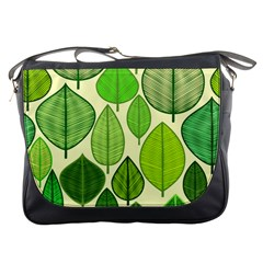 Leaves pattern design Messenger Bags