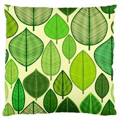 Leaves pattern design Large Cushion Case (Two Sides)