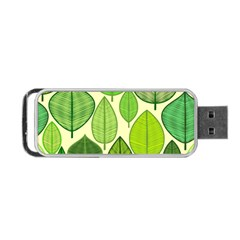Leaves pattern design Portable USB Flash (One Side)