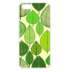 Leaves pattern design Apple iPhone 5 Seamless Case (White)