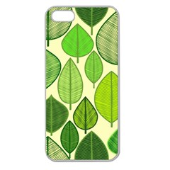 Leaves pattern design Apple Seamless iPhone 5 Case (Clear)