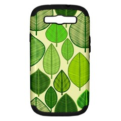 Leaves pattern design Samsung Galaxy S III Hardshell Case (PC+Silicone)