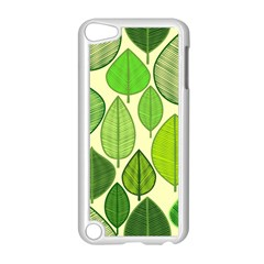 Leaves pattern design Apple iPod Touch 5 Case (White)