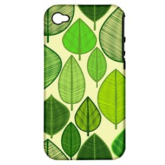 Leaves pattern design Apple iPhone 4/4S Hardshell Case (PC+Silicone)