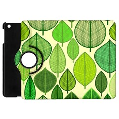 Leaves pattern design Apple iPad Mini Flip 360 Case