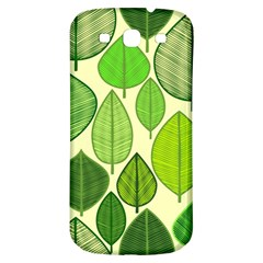 Leaves pattern design Samsung Galaxy S3 S III Classic Hardshell Back Case