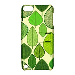Leaves pattern design Apple iPod Touch 5 Hardshell Case with Stand