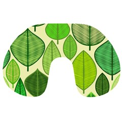 Leaves pattern design Travel Neck Pillows
