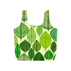Leaves pattern design Full Print Recycle Bags (S)